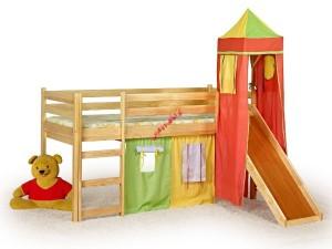 Kinderhochbett Flo mit Rutsche